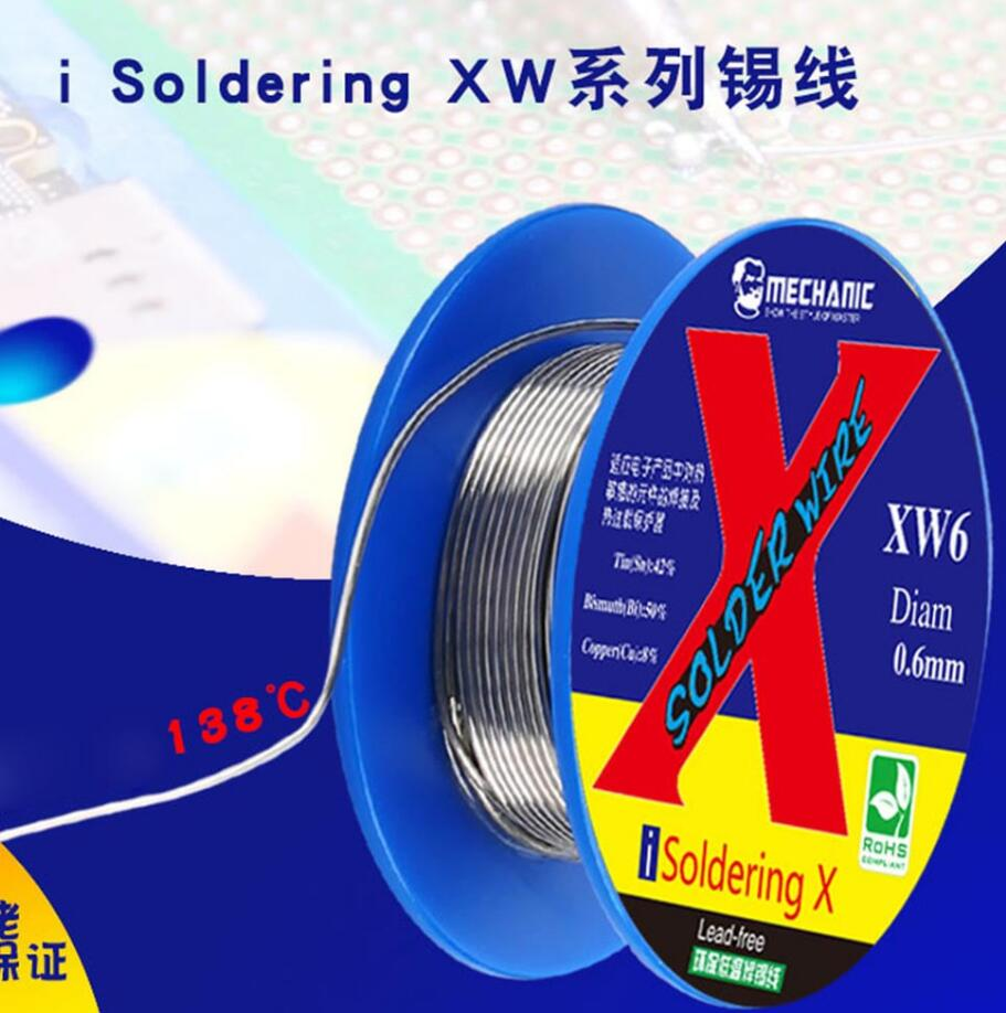 Mechanic i Soldering XW Low Temperature 138 Dgree Welding Wire for iPhone X/XS/XR/Xs MAX(0.5mm/0.6mm)
