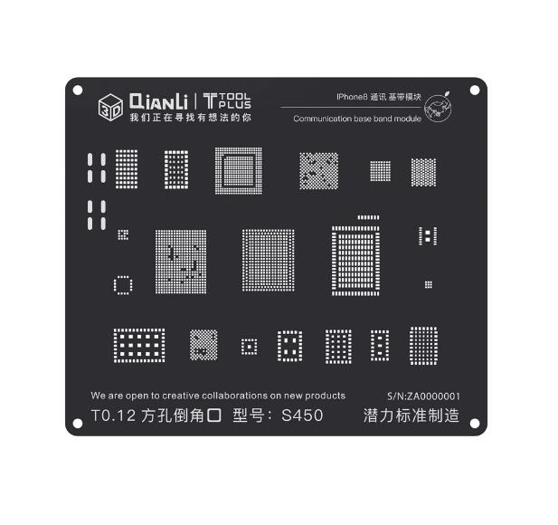 Qianli 3D Positioning Black Stencil Universal Communication Base Band Stencil for iPhone 5/5S/6/6P/6S/6SP/7/7P/8/8P/X