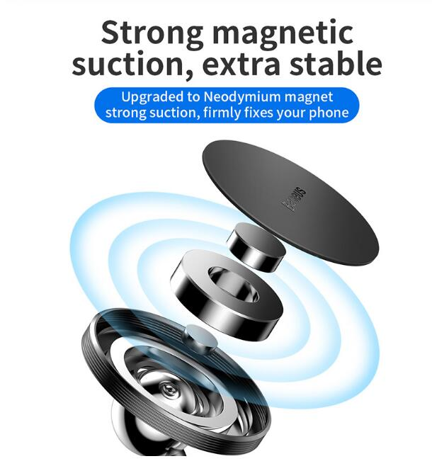 Baseus Magnetic Car Phone Holder for iPhone Samsung Cell Mobile Phone Stand Magnet 360 3D Rotation GPS Car Air Vent Mount Holder
