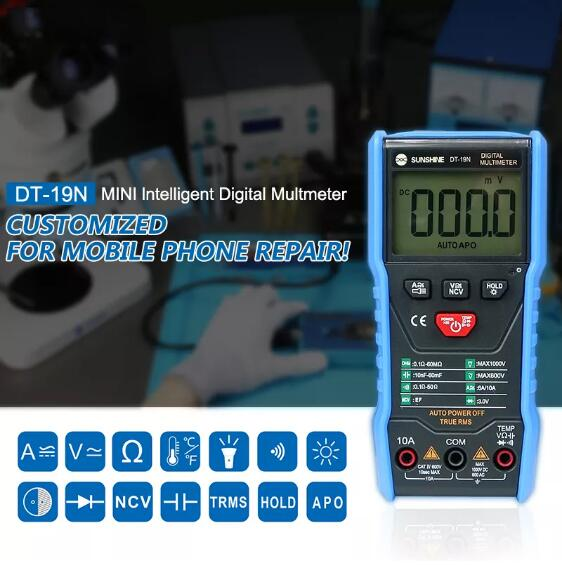 DT-19N Ammeter High-precision Intelligent Digit A Multimeter Mini-automatic universal Meter for Mobile Phone Repair