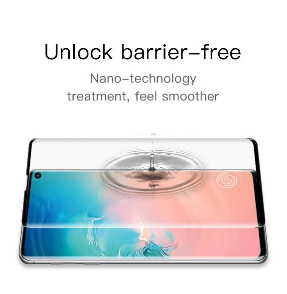 Curved Tempered Glass for Samsung Galaxy S10/S10+ Screen Protector  Fingerprint Unlock Film
