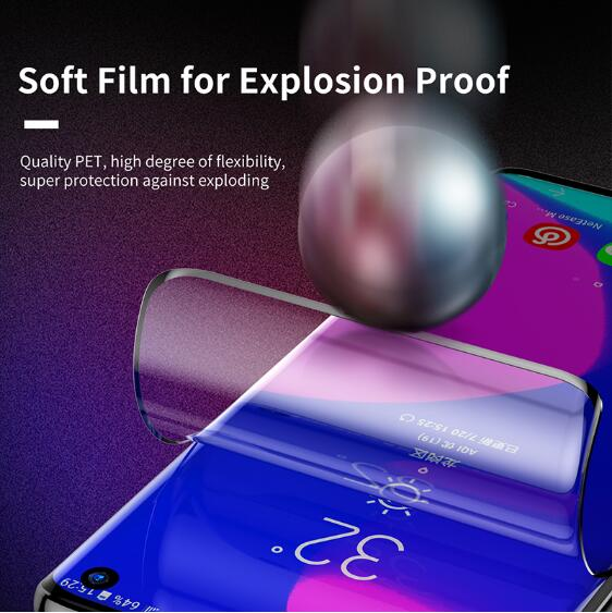 Baseus 2pcs 0.15mm Protective Film For Samsung S10/S10+ Screen Protector Thin Full Coverage Soft Film
