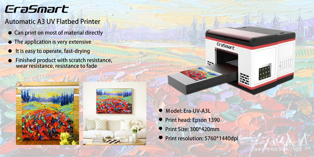 The Newest Upgraded A3 1390 UV printer For Phone Case DIY Printing