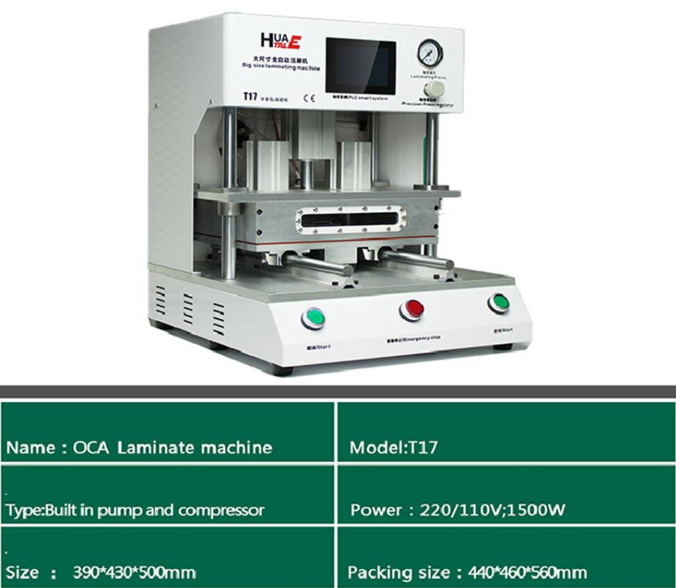 T17 OCA Vacuum Laminating Machine to Repair Broken Touch Screen Digitizer LCD Glass For iPhone/Samsung
