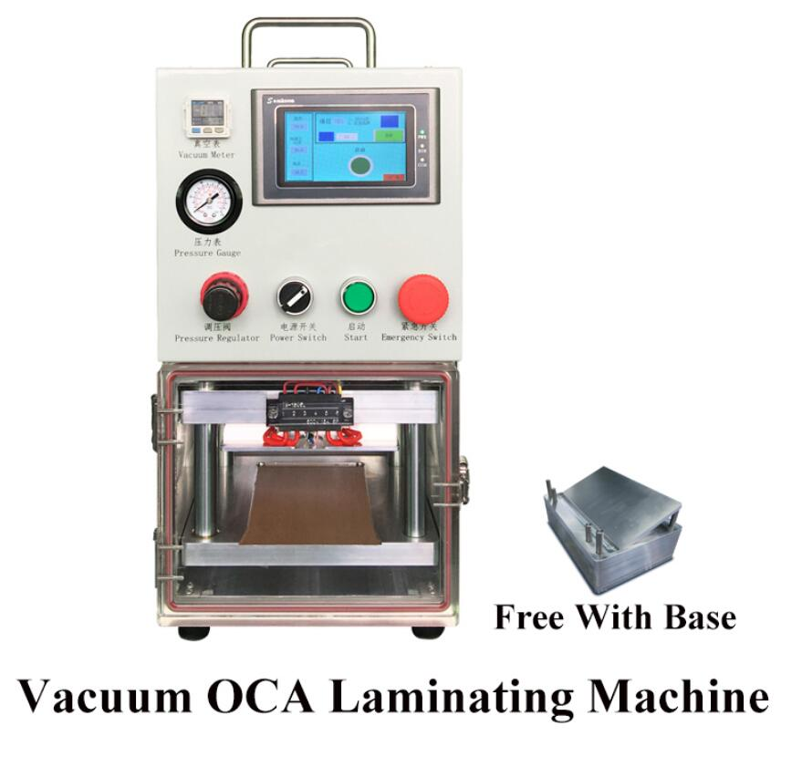 Nov LCD Display Touch Screen OCA laminating machine for iphone samsung edge lcd Vacuum Automatic laminating with Vacuum Pump