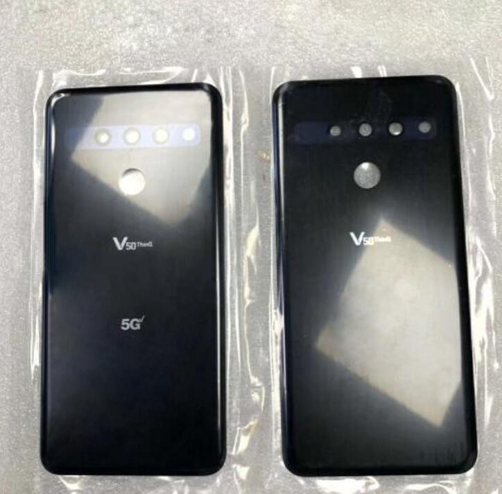 For LG V50 ThinQ Back Glass Battery Cover-Black