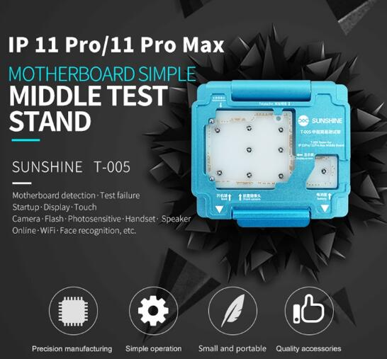 T-005 Motherboard Test Frame For IP 11 Pro/11 Pro Max Middle Layer Motherboard Simple Test Stand Detection Repair Test