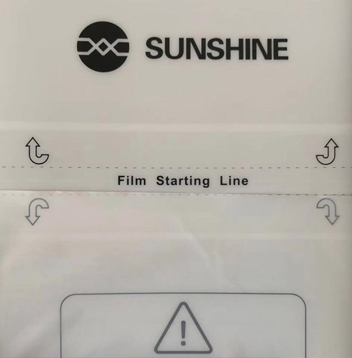 50pcs/lot Sunshine Flexible Hydrogel Film SS-057 For SS-890C Auto Film Cutting Machine Mobile Phone Screen Front Film Cut