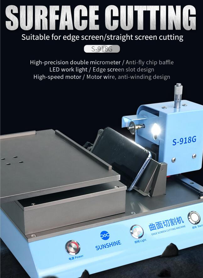 Edge Straight Screen Cutting Machine Suitable For Edge Screen/Straight Screen For Samsung/Iphone/Huawei etc.