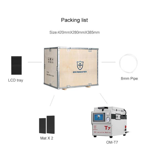 OM-T7 Mini OCA Lamination Machine For iPhone and Samsung Screen Laminating(Need to connect air compressor to use)